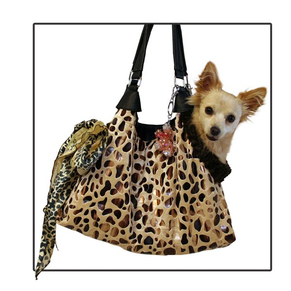 Tan Animal Foil Carrying Bag