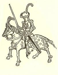 Grabado caballero medieval
