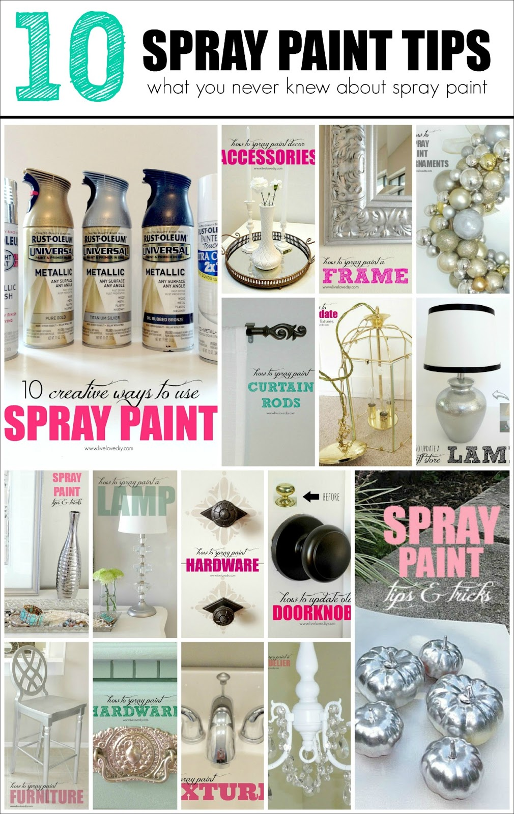 livelovediy 10 spray paint tips what you never knew