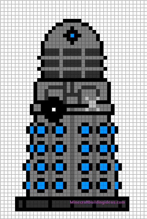 Minecraft Pixel Art Templates Dalek Doctor who – Minecraft Pixel Art Template