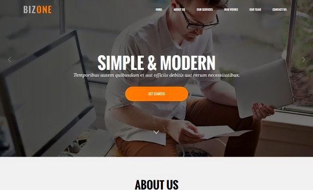 BizOne – Drupal One Page Theme