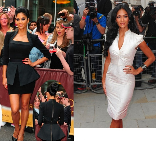 Nicole Scherzinger dress is sexy and sophisticated