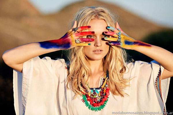 Moda primavera verano 2015 India Style túnicas.