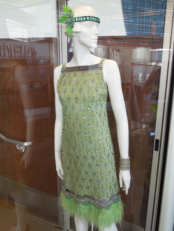 Great Gatsby green flapper dress