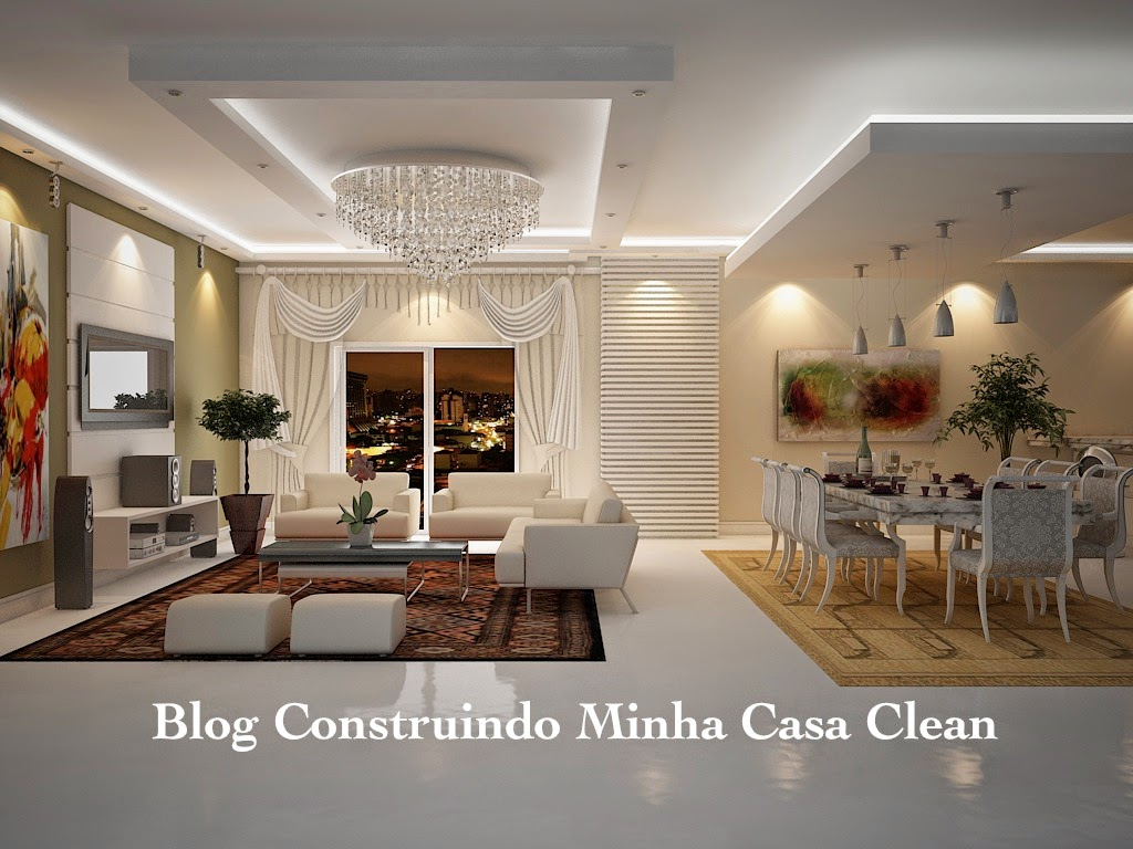 Sala De Jantar Rebaixada Com Gesso ~ Construindo Minha Casa Clean Tipos de Lajes, Tetos e Forros! Qual