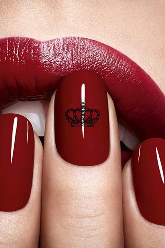 dark, red, lips, nail, paint, lipstick, looks, gorgeous | 4loveimages
