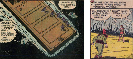 PS 2 panel, and MF 88 panel with Mary Marvel: 'Ulps' in both
