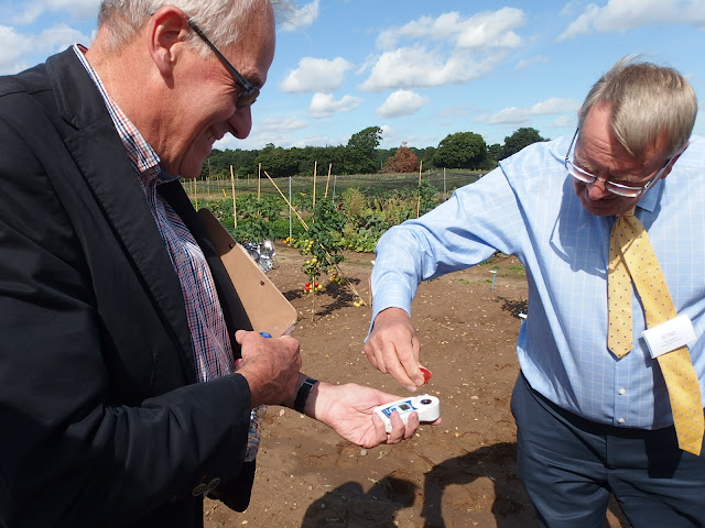 The Brix Refractometer in use