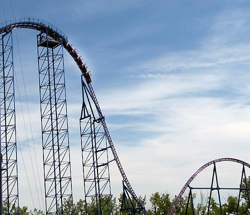 new roller coaster at six flags new england 2011. Bizarro, Six Flags New England