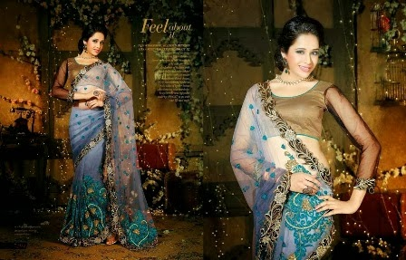 Embroidered Sarees Designs for Diwali
