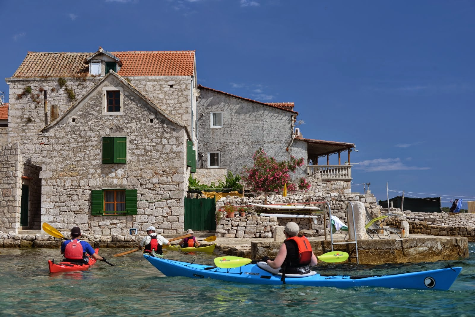 Sea kayaking journey in Croatia