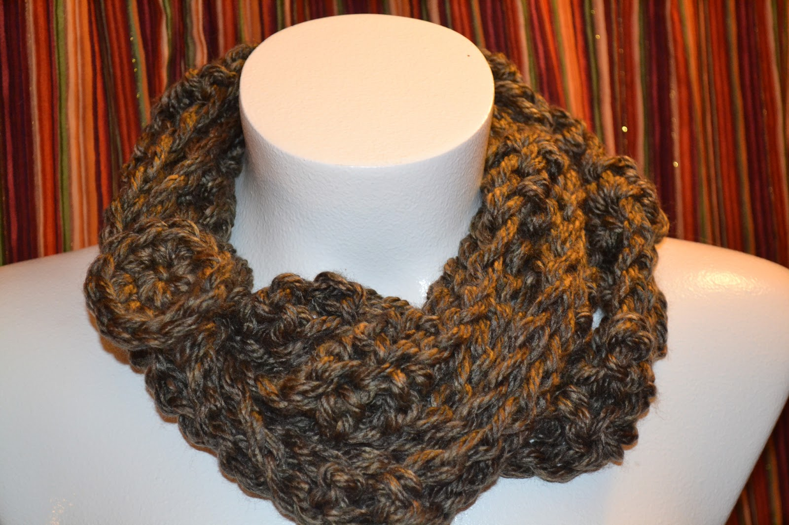 Infinity Scarf Knitting Pattern Super Bulky : One Crafty Broad: Super-Bulky Infinity Scarf in Little ...