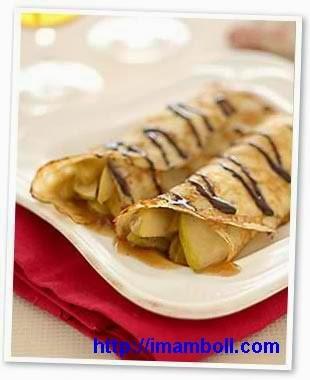 Resep dan Cara Membuat Kue Leker / Crepes Basah