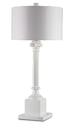 white roman column lamp