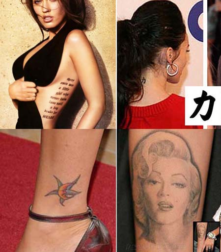 megan fox tattoos megan fox tattoos meanings
