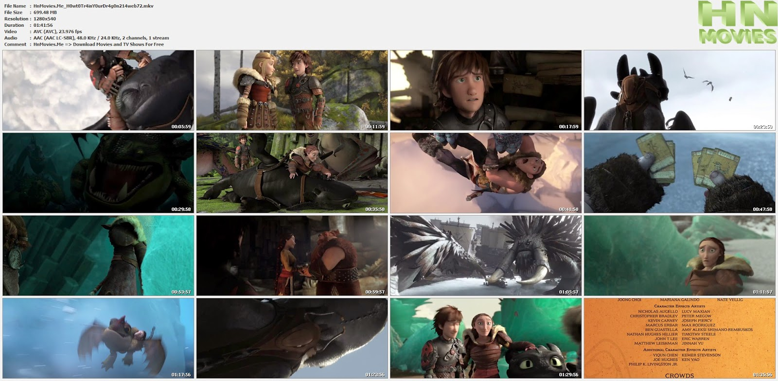 How to Train Your Dragon 2 (2014) 720p WEB-DL 700MB