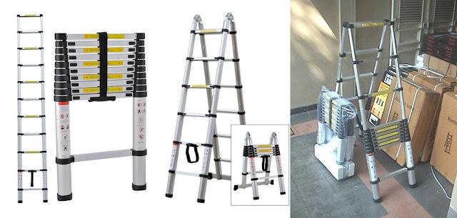 tangga aluminium lipat praktis dan modern