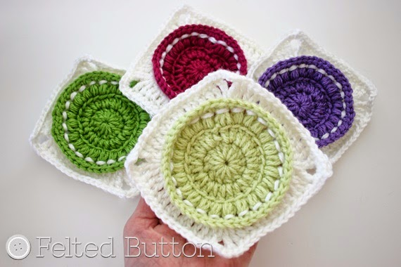 Bright as a Button Blanket Squares -- How to Block