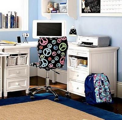 Decora el hogar cuarto de estudio para chicos - Habitacion estudio decoracion ...