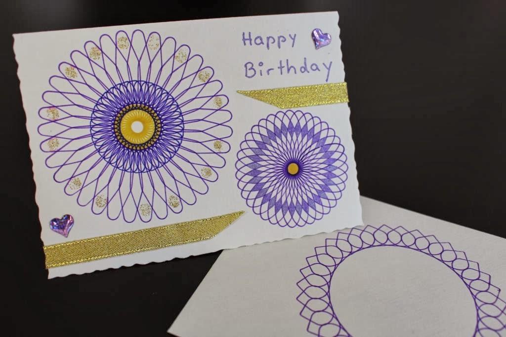 Geburtstagskarte selber basteln mit Spirograph