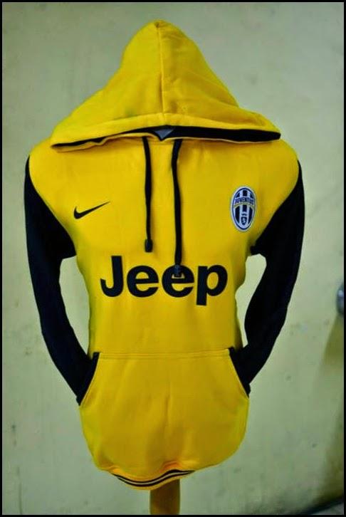New Jumper Hoodie Bola Kombinasi 2014 - 2015 Juventus (kuning kombinasi hitam)