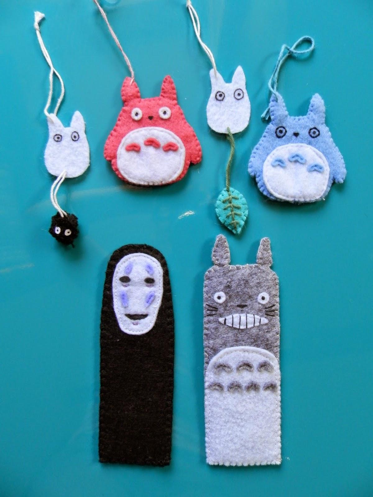 Coton et Création : Accessoires feutre Totoro