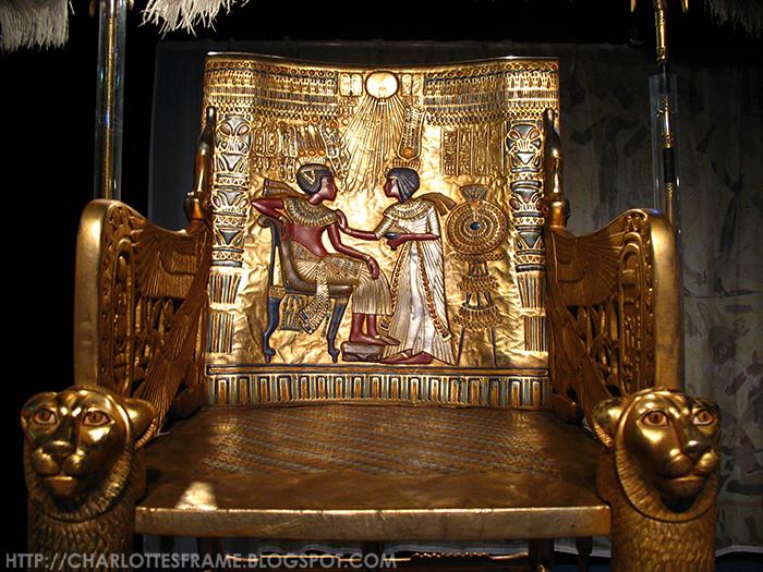 Toetanchamon, zijn graf & zijn schatten / Tutankhamun - his tomb and its treasures, Troon van Toetanchamon, throne of Tutankhamun