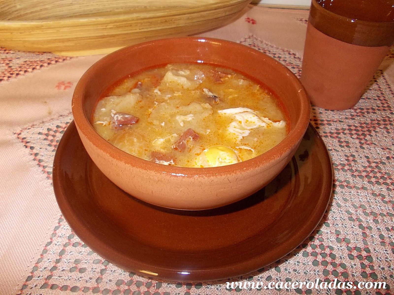 Sopa de ajo sopa castellana caceroladas - Sopa castellana casera ...