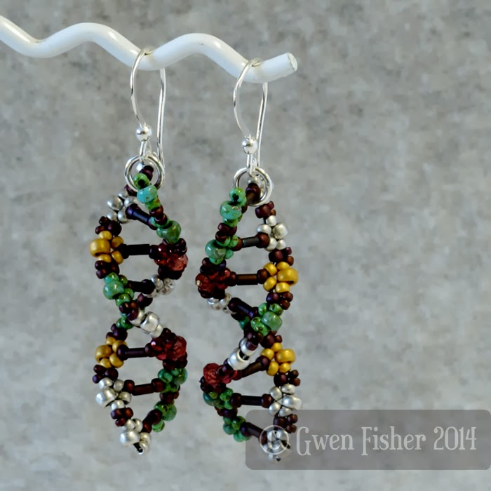 Earthy Beaded DNA Earrings