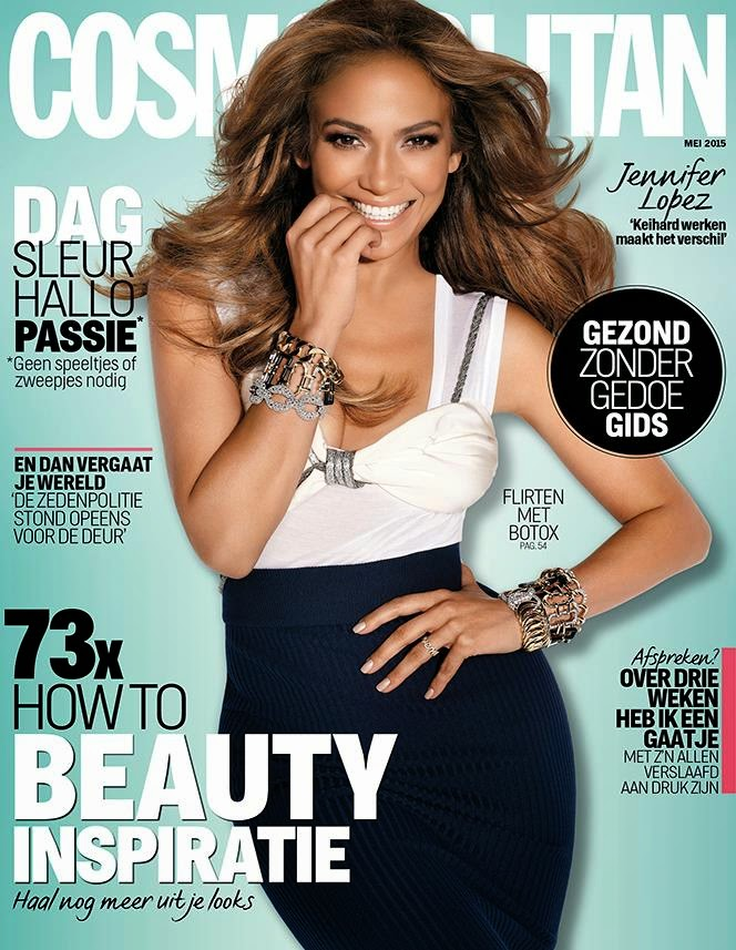 Actress, Fashion Designer, Singer @ Jennifer Lopez - Cosmopolitan Netherlands, May 2015