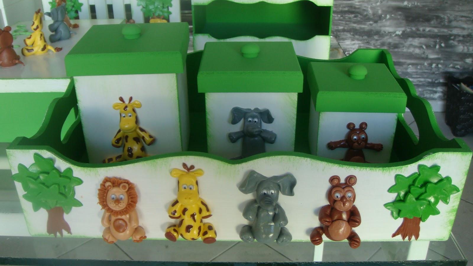 Quarto De Bebe Decorado Com Safari ~ kit para quarto de beb? em mdf decorado com biscuit