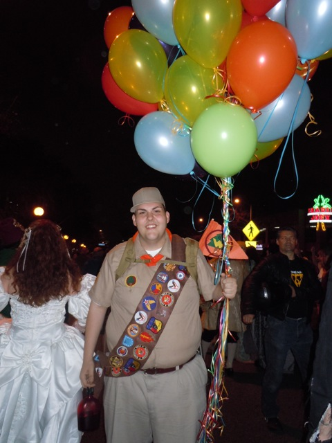 Russell Up costume WEHO Halloween costume