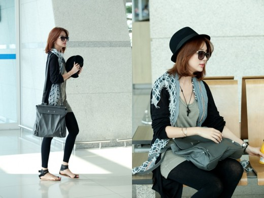 Chic And Blessed Stars 39 Airport Style T O P And Yoon Eun Hye