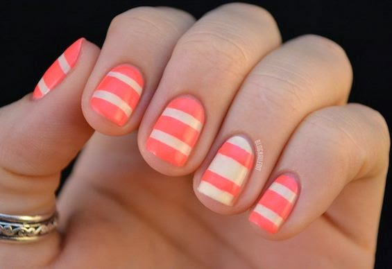 Stripes Nail Art Designs