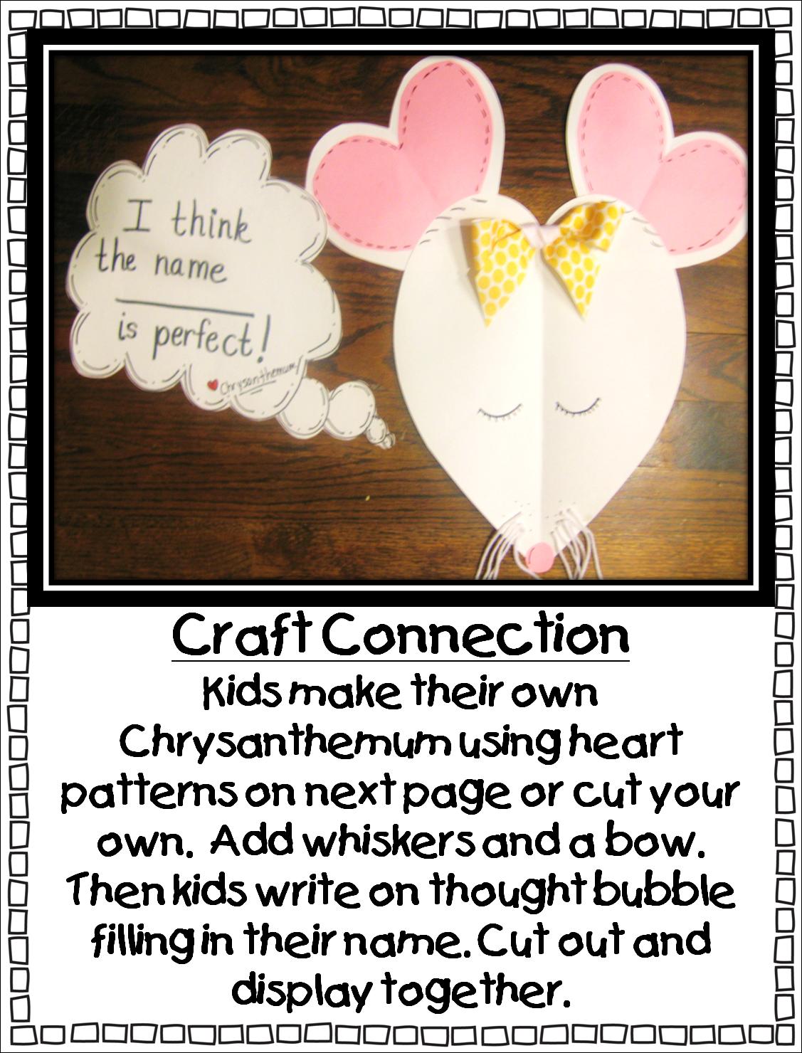 Chrysanthemum book lesson plans