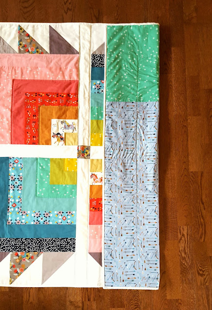 Big Bear Cabin Quilt using Birch Fabrics by Heidi Staples for Fabric Mutt
