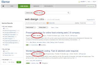Elance Job Page