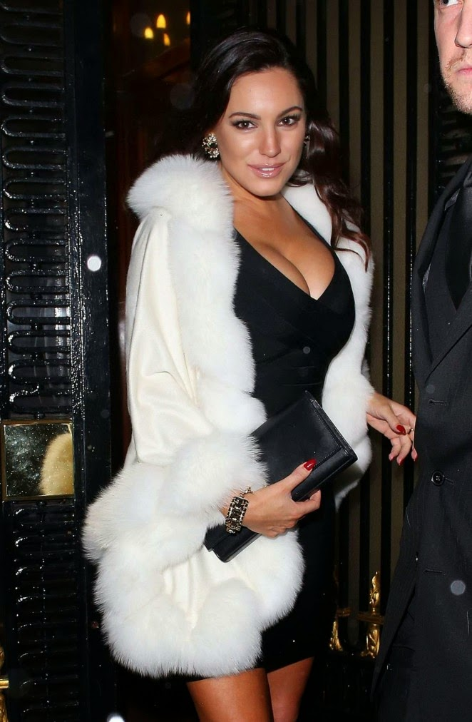 Kelly Brook at A Christmas Party in London