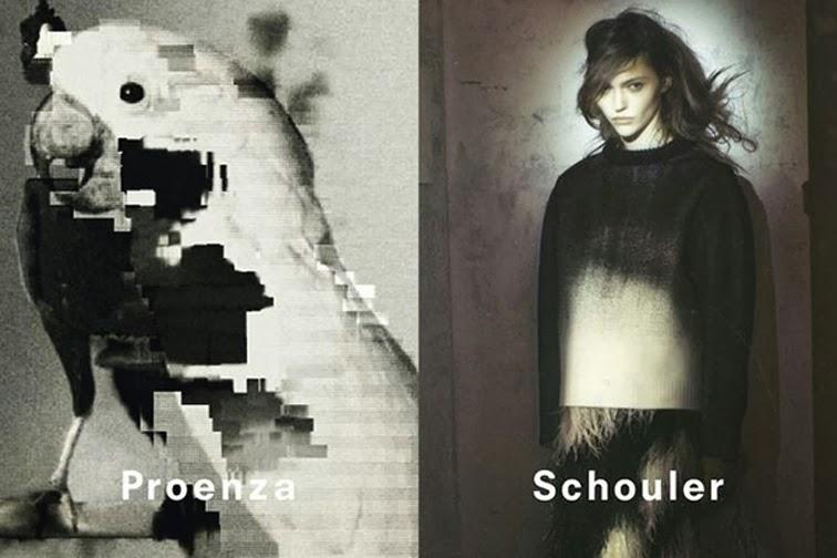 Proenza Schouler fall 2013 campaign Sasha Pivovarova by David Sims