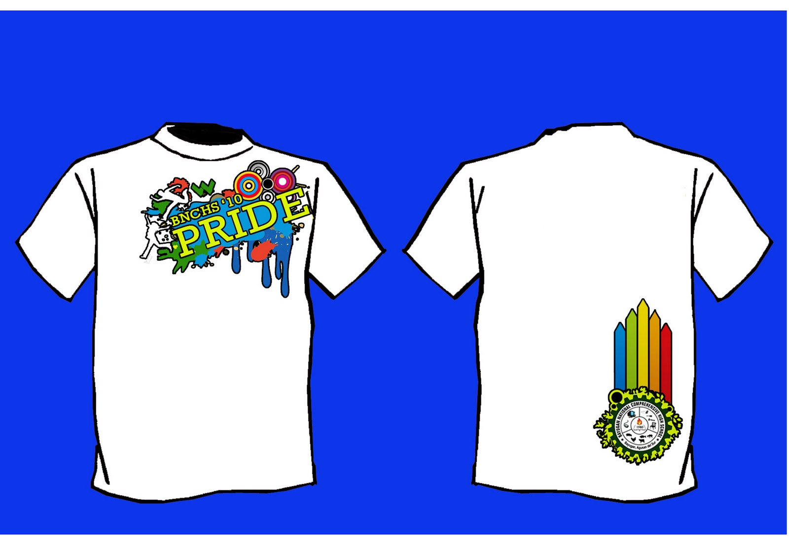 Design t shirt school - Bayugan National Comprehensive High School Alumni T Shirt 2010