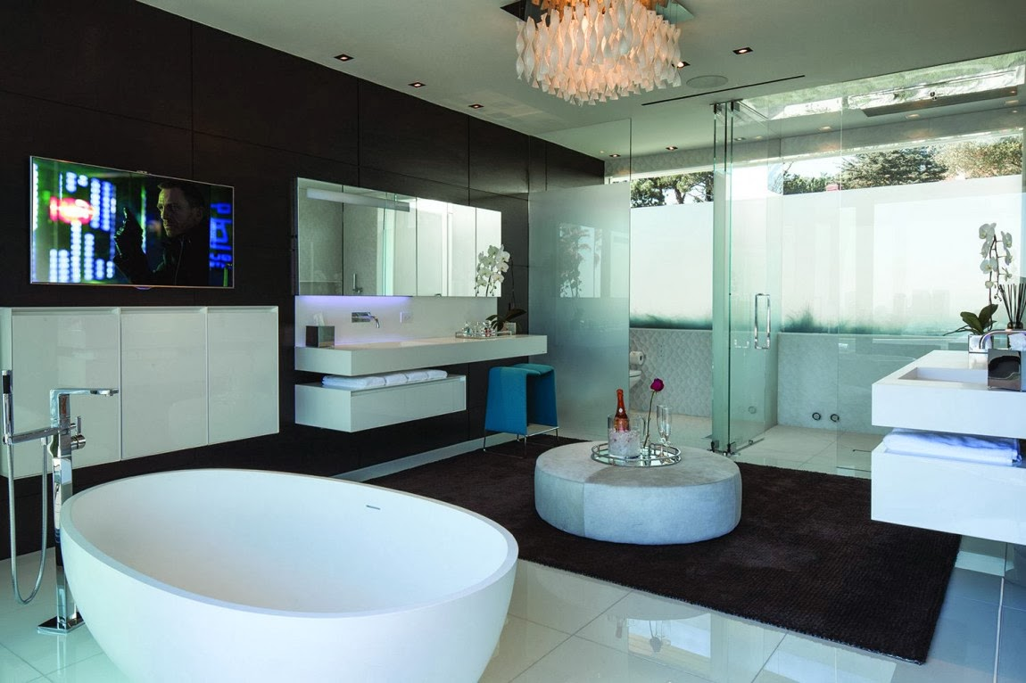 Awesome bathrooms with tv - The Bathroom With Elegant White