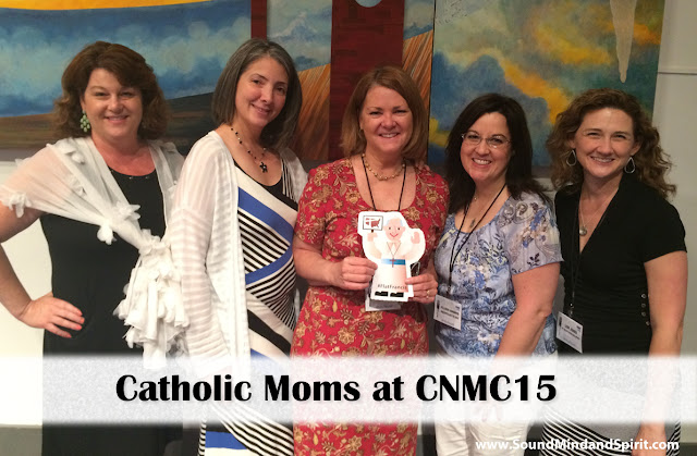 Catholic Moms at CNMC 15 with Flat Francis