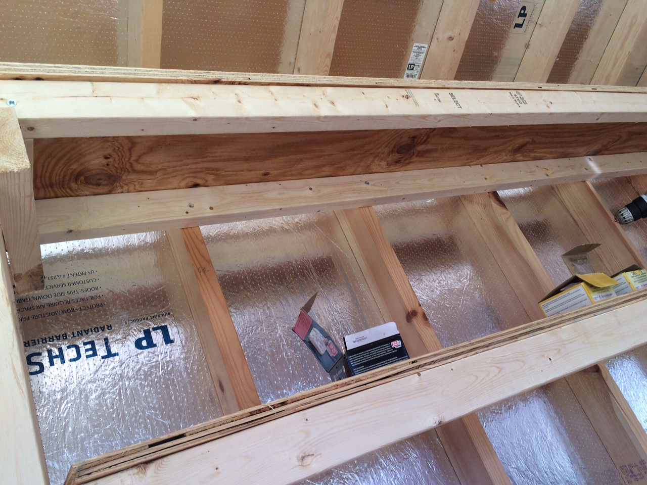 Perfect How To Build Shed Shelving: Photo Of The Shelving From Underneath.  #woodworking #