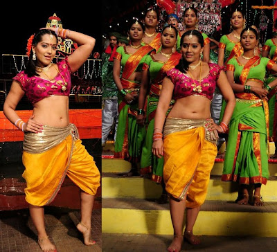 Meghna Naidu Hot Navel Show Dancing Stills