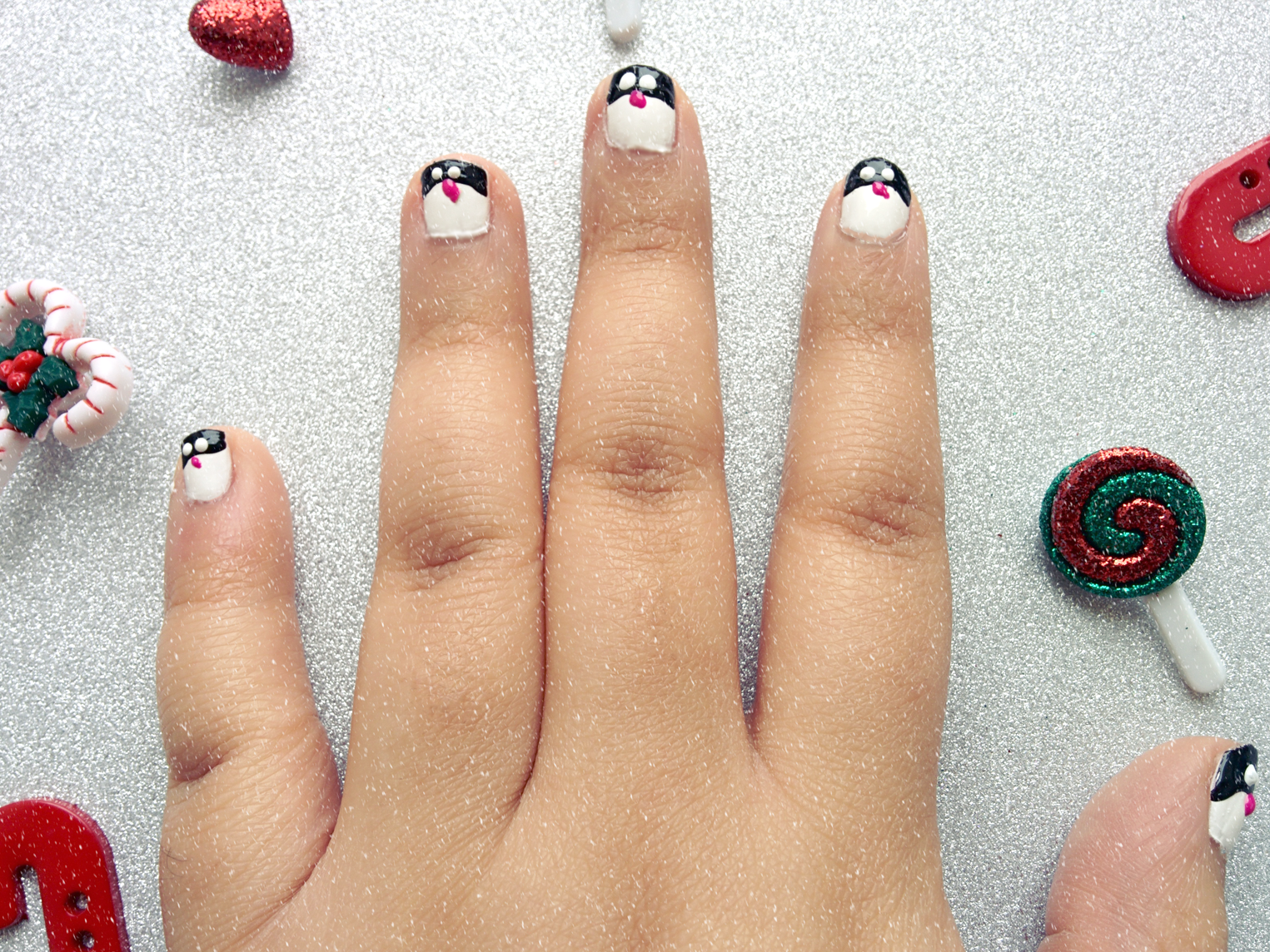 Easy Penguin Nail Tutorial | Two Different Worlds