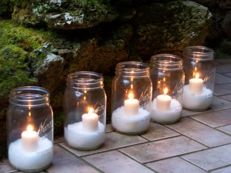 Wedding Decorations Using Mason Jars