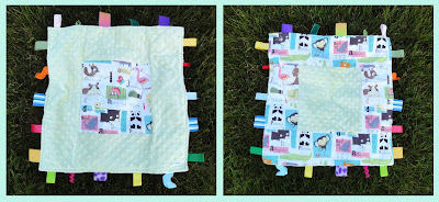 alphabet print blankie