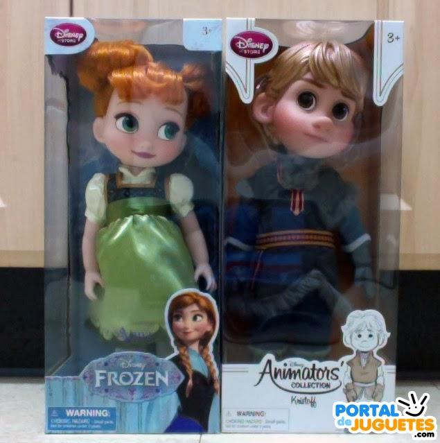 muñeco kristoff muñeca anna frozen caja