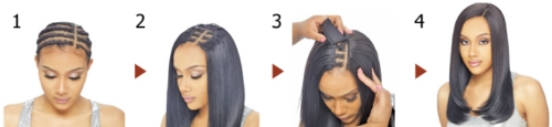 Invisible part weaving closure from shake n go review eye mark the area where you wish to place the invisible part weaving closure divide your hair vertically to create a natural part line and proceed to pmusecretfo Images