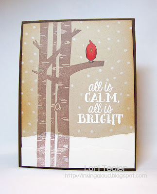 All Is Calm-designed by Lori Tecler-Inking Aloud-stamps from Avery Elle